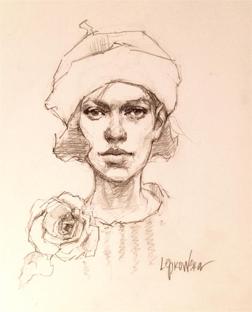 """""""Flower Girl 4"""" original fine art by Laurie Johnson Lepkowska"""