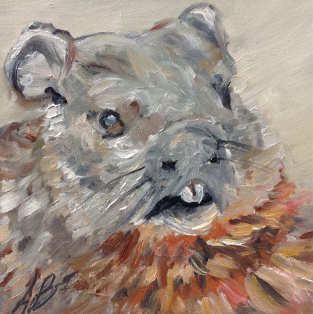 """""""Groundhog"""" original fine art by Annette Balesteri"""