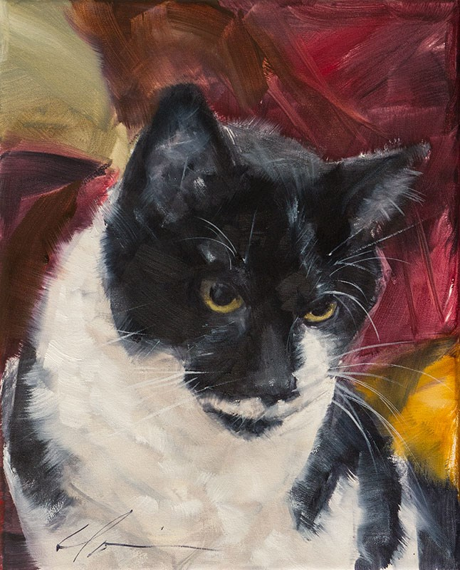 """Sweet Gus"" original fine art by Clair Hartmann"