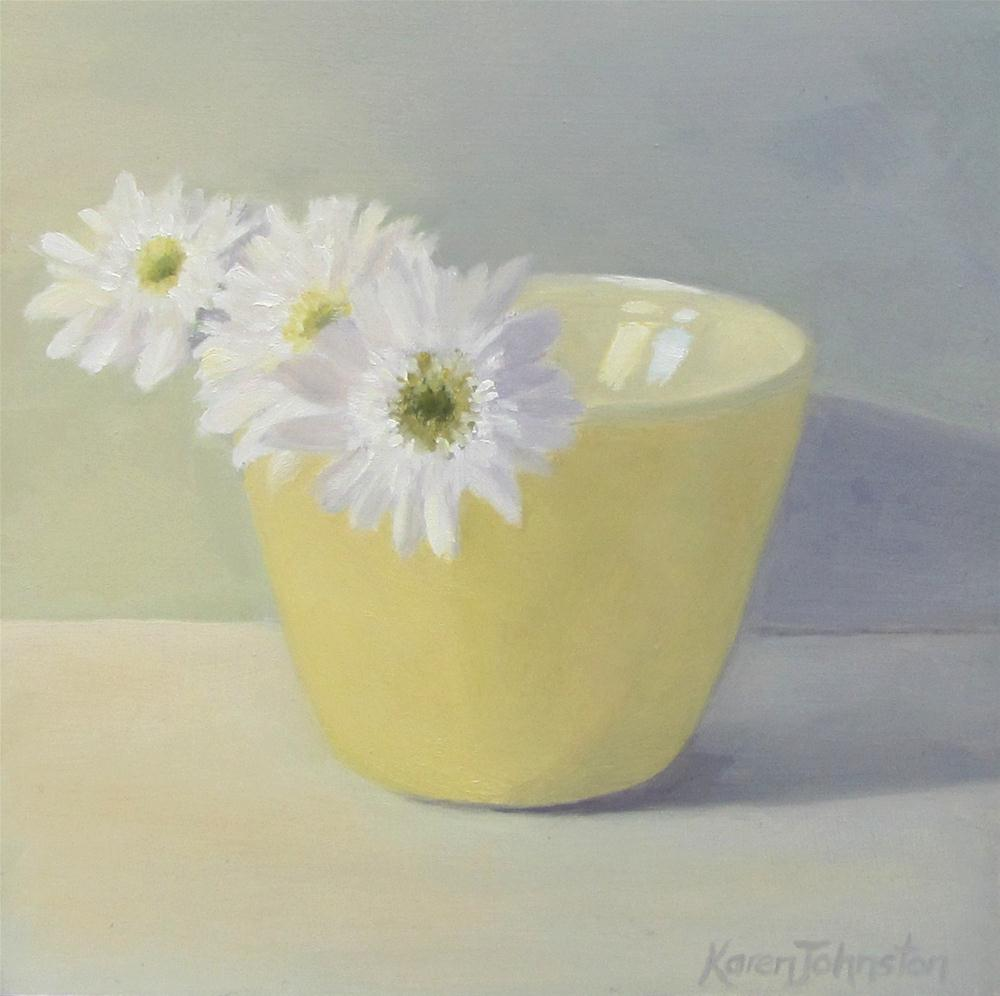 """Mellow Yellow"" original fine art by Karen Johnston"