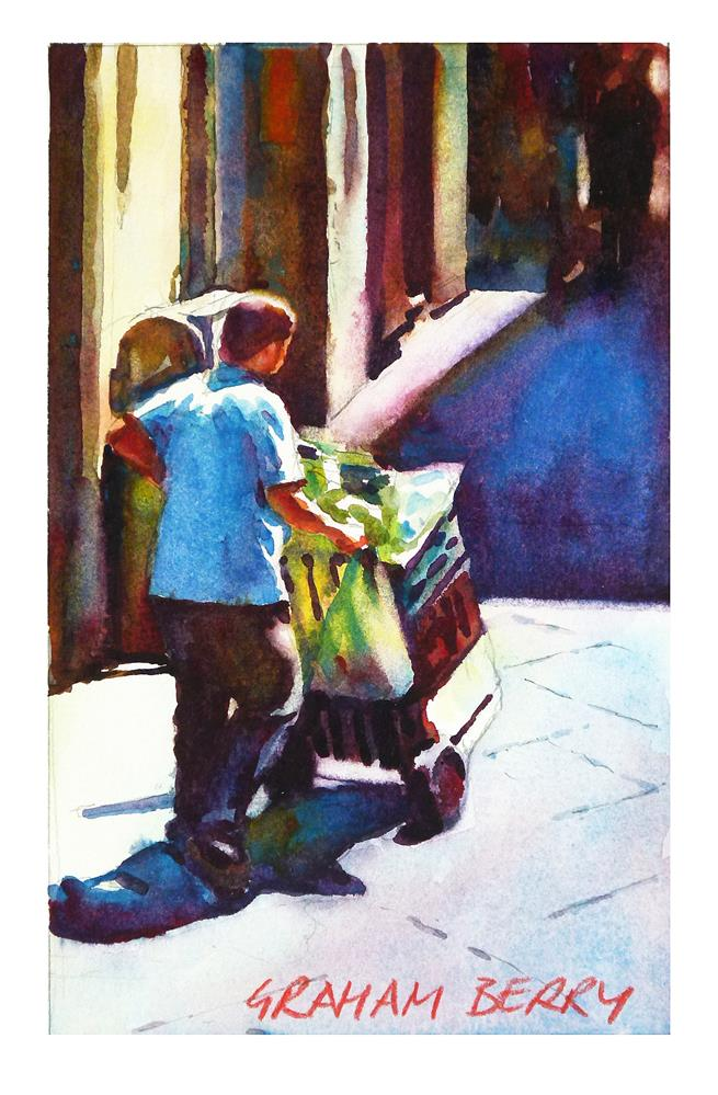 """Market boy."" original fine art by Graham Berry"
