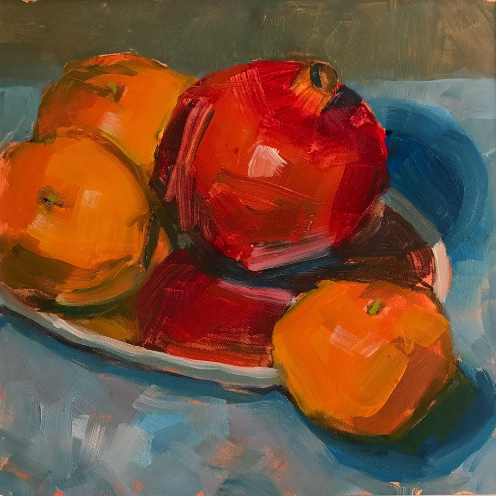 """Pomegranates"" original fine art by Donna Dumont"