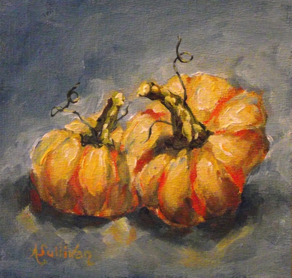 """Pumpkin Glow"" original fine art by Angela Sullivan"