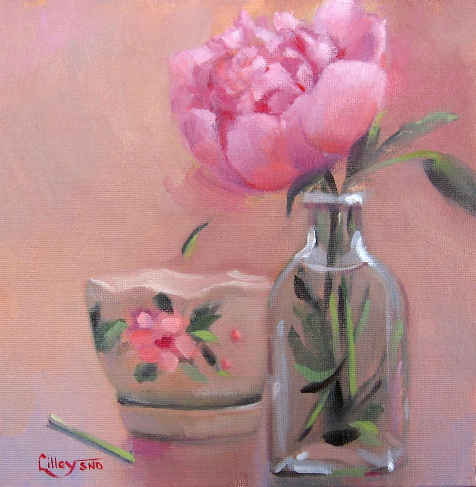 """Peony in a Bottle"" original fine art by Maresa Lilley"