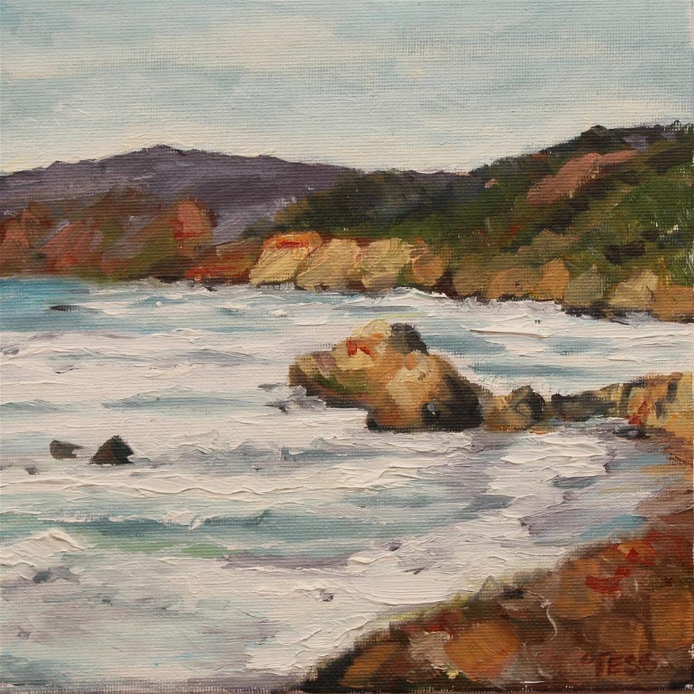 """California Coast"" original fine art by Tess Lehman"