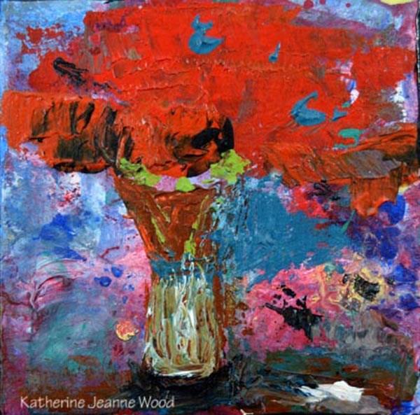 """Floral Series No 28"" original fine art by Katie Jeanne Wood"
