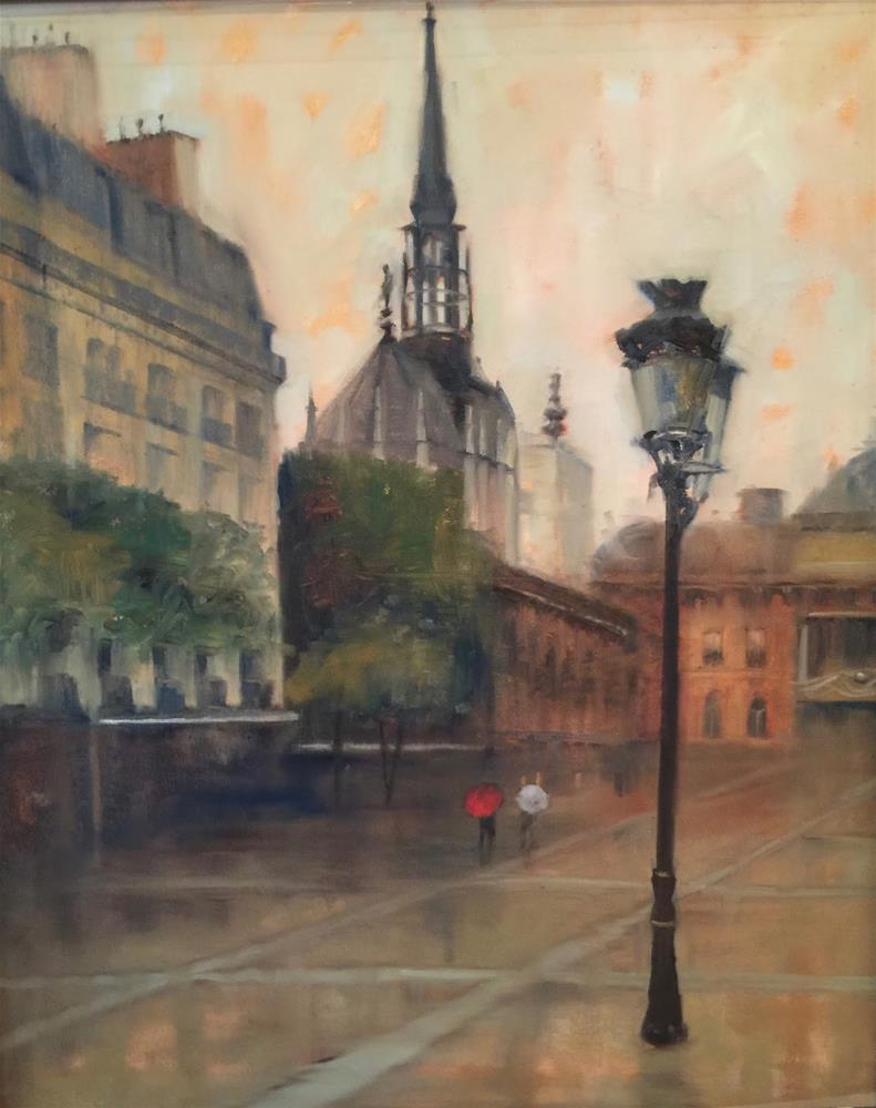 """After the Rain, Paris, 20x24"" original fine art by Ann Feldman"