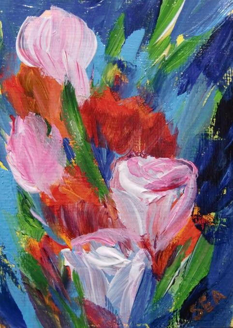 """3030 - EVERMORE - ACEO Series"" original fine art by Sea Dean"