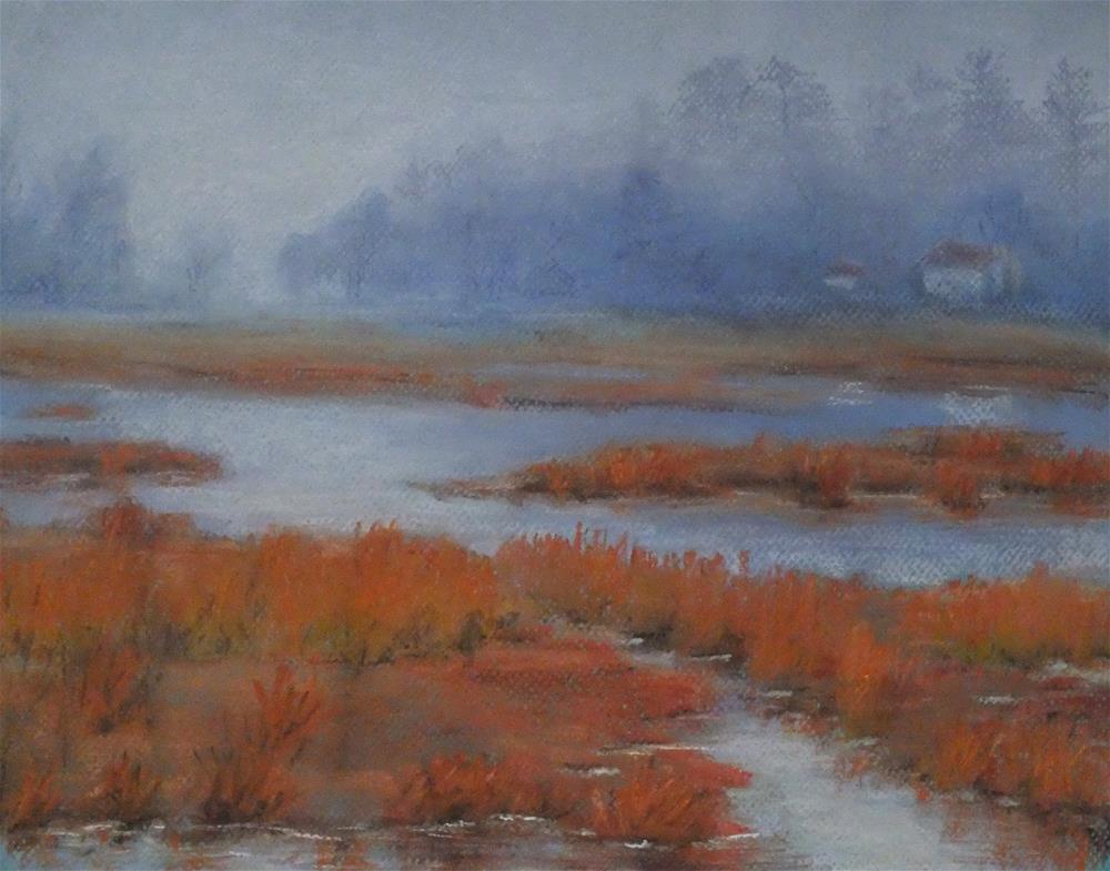 """House on Marsh"" original fine art by Linee Baird"