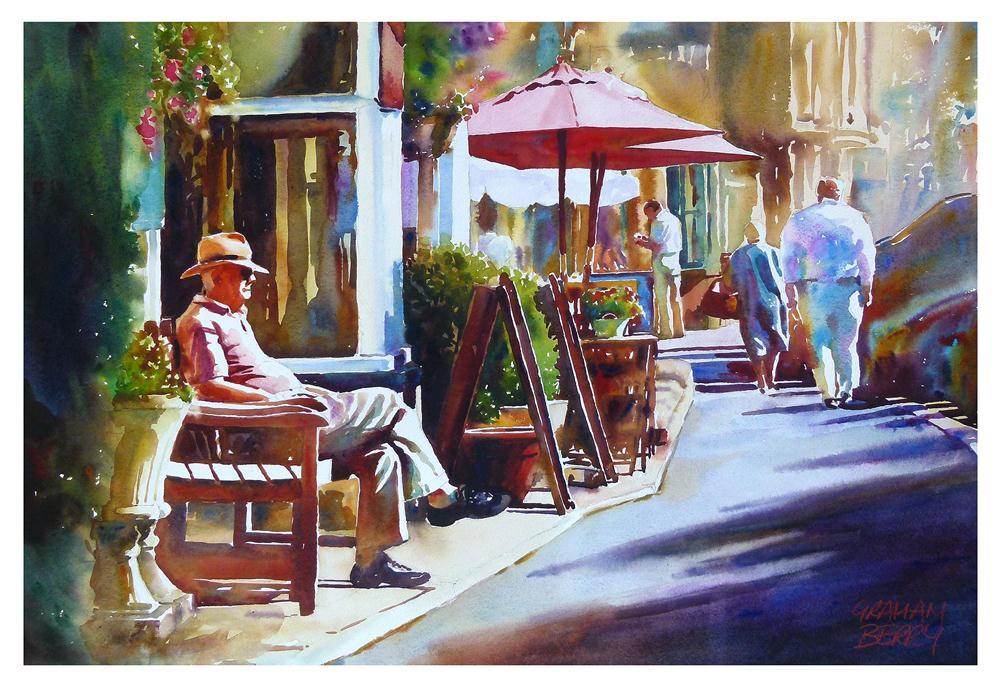 """Cotswold sunshine"" original fine art by Graham Berry"