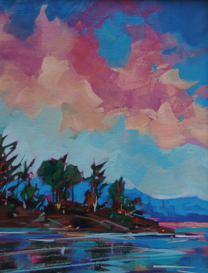 """Island Evening"" original fine art by Brian Buckrell"