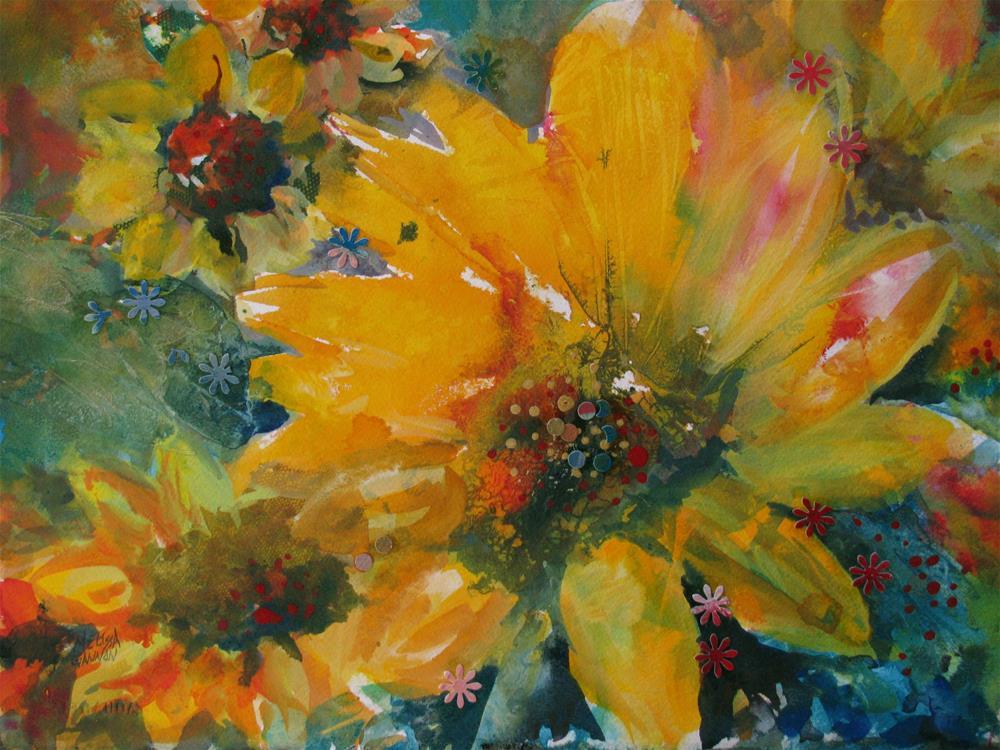 """Sunny Flowers"" original fine art by Melissa Gannon"