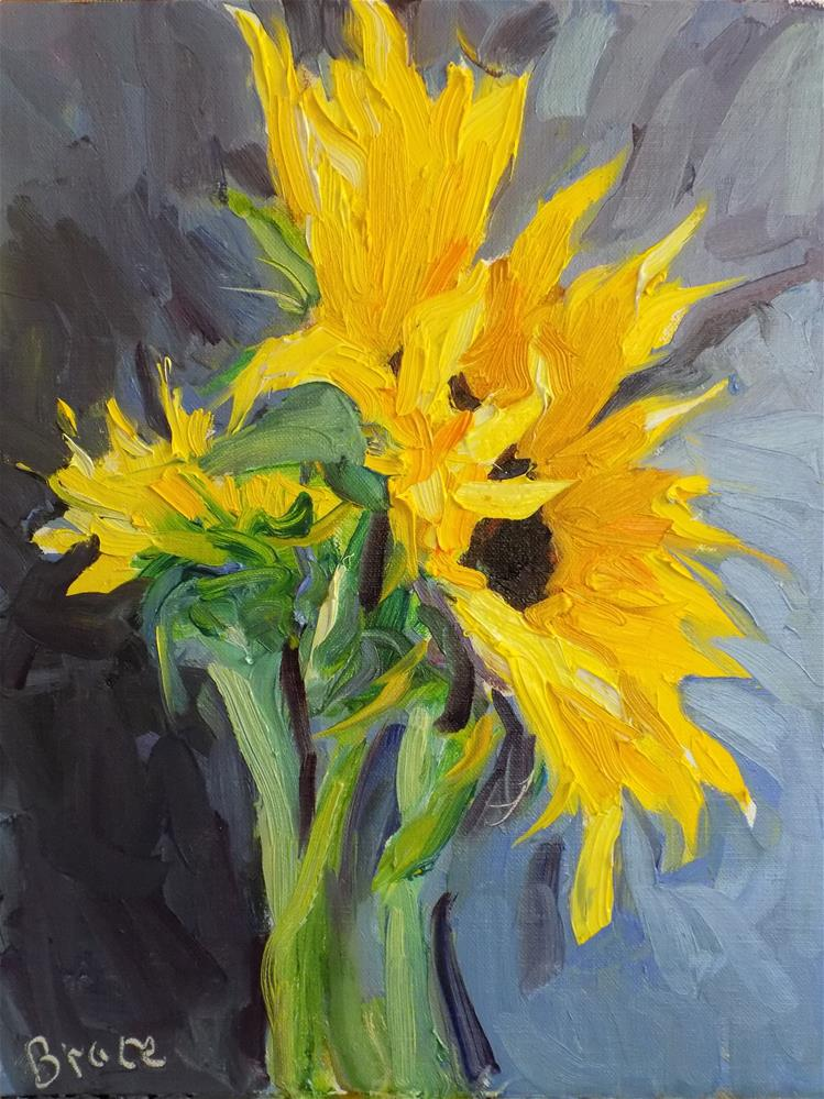 """Large Sunflowers"" original fine art by Rita Brace"