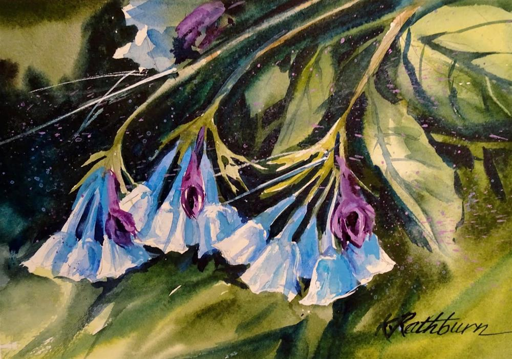 """Blue Bells"" original fine art by Kathy Los-Rathburn"
