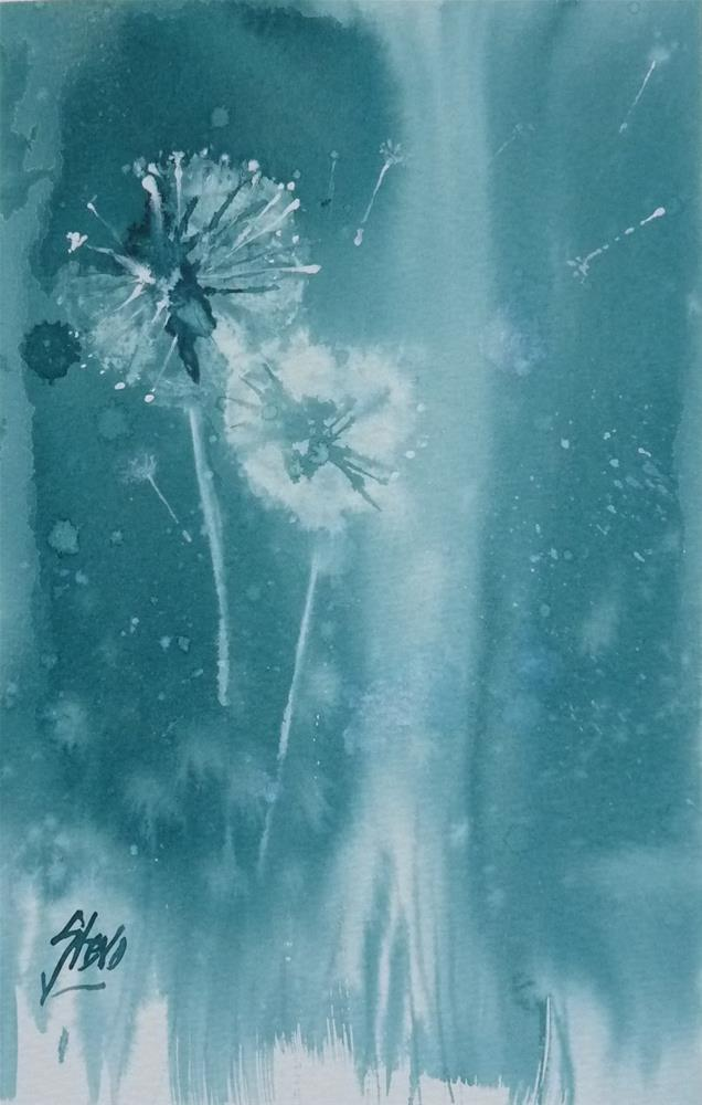 """Dandelions II"" original fine art by Martin Stephenson"