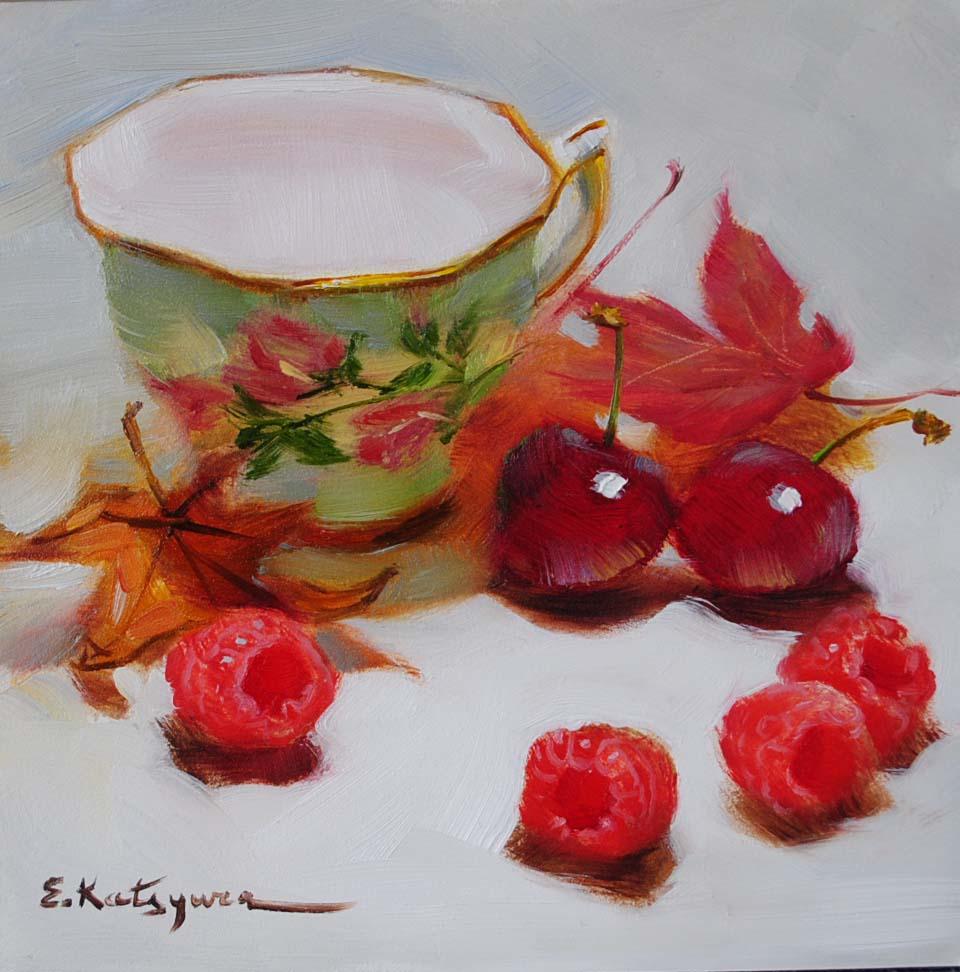 """""""New Year's Treats"""" original fine art by Elena Katsyura"""