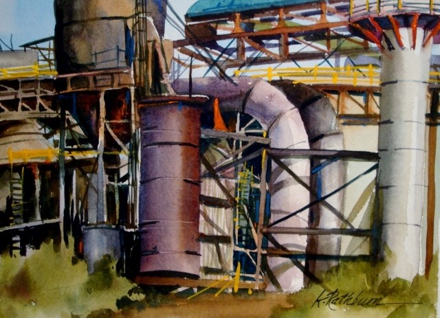 """Industry:  It's Complicated"" original fine art by Kathy Los-Rathburn"