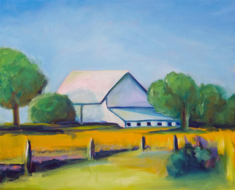 """Indiana Farmhouse"" original fine art by Susan Bertocci"