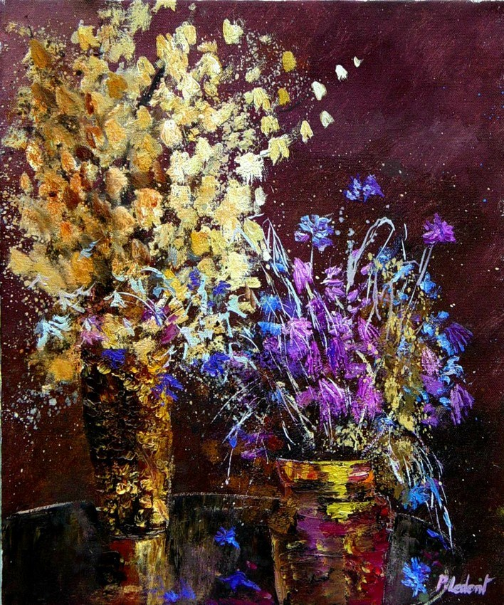 """still life 5123"" original fine art by Pol Ledent"