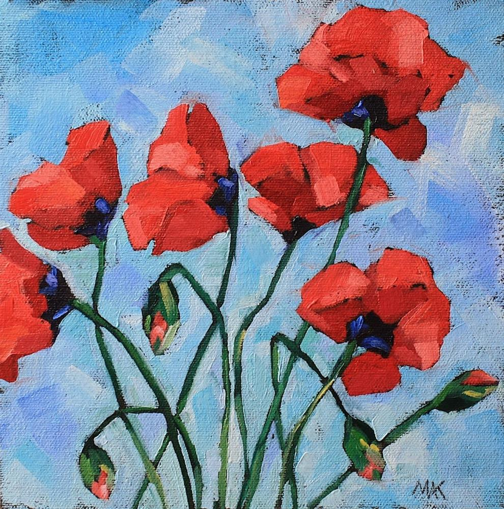 """Poppy Show"" original fine art by Mary Anne Cary"