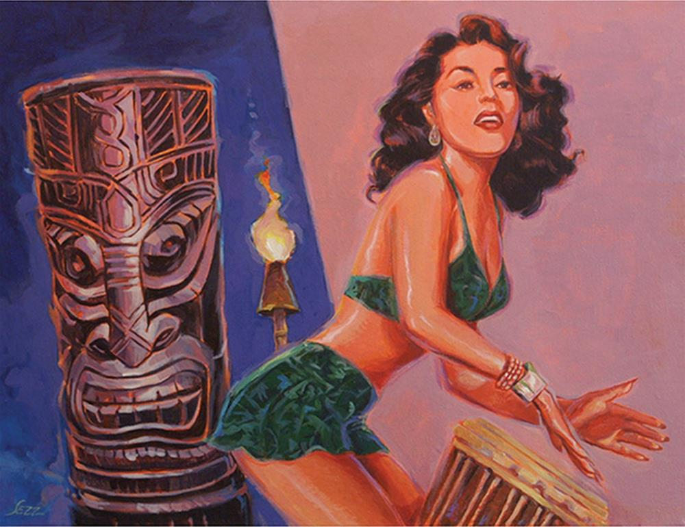 """She's Gone With The Hula Hula Boys"" original fine art by Shawn Shea"