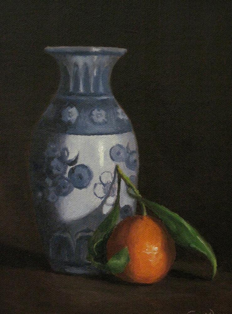 """Vase with Clementine"" original fine art by Michelle Garro"