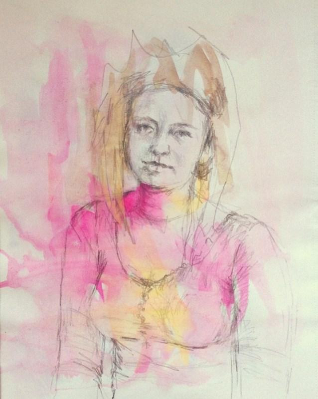 """Drawing #3-20"" original fine art by Katie Wilson"
