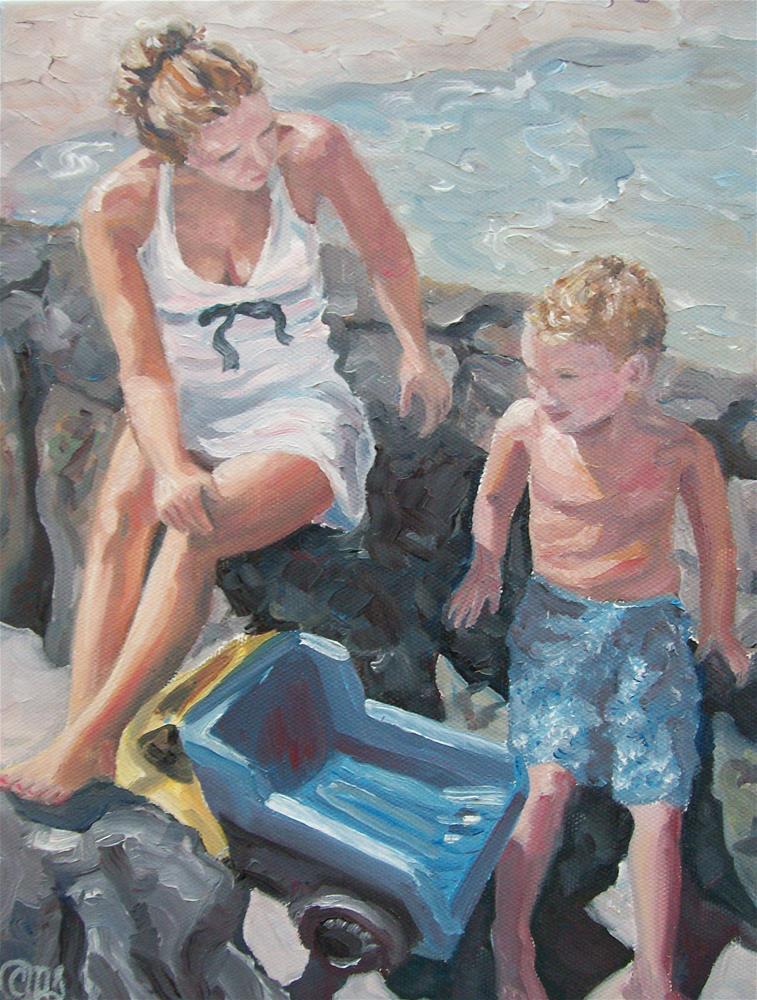 """Mother and Child"" original fine art by Christine Blain"