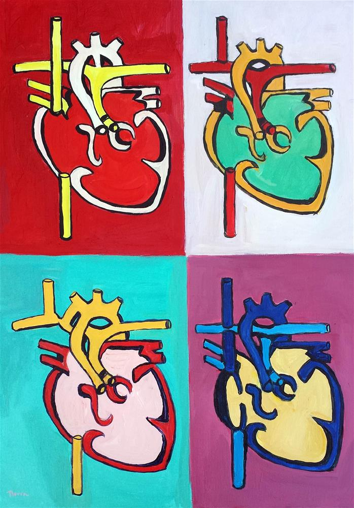 """""""Healing Heart"""" original fine art by Nava Judith"""
