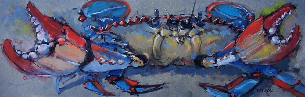 """""""Confrontational Crab"""" original fine art by Rick Nilson"""
