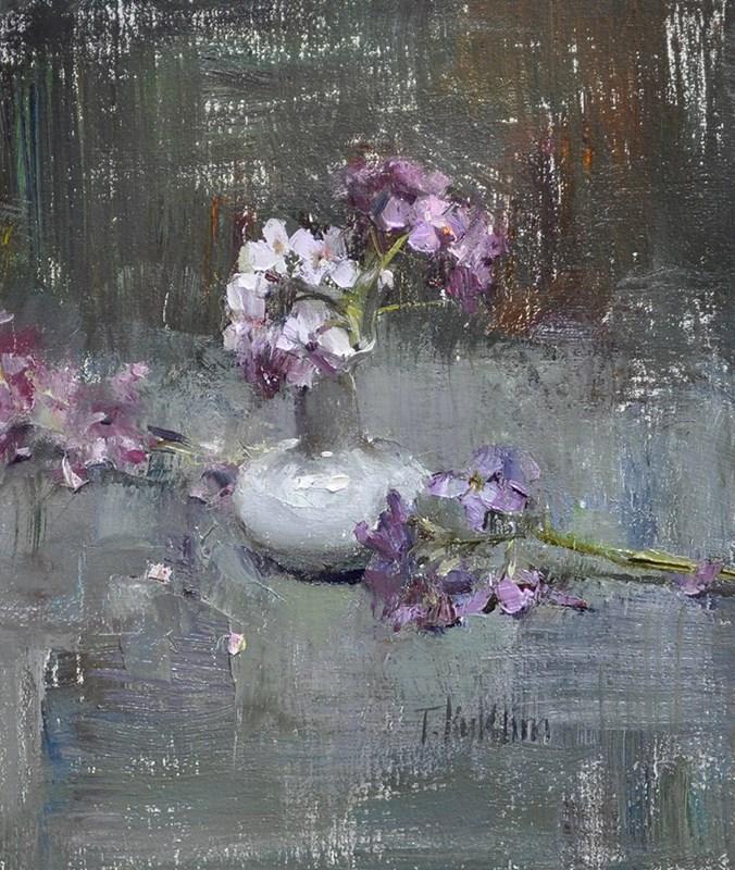 """grays and blues"" original fine art by Taisia Kuklina"