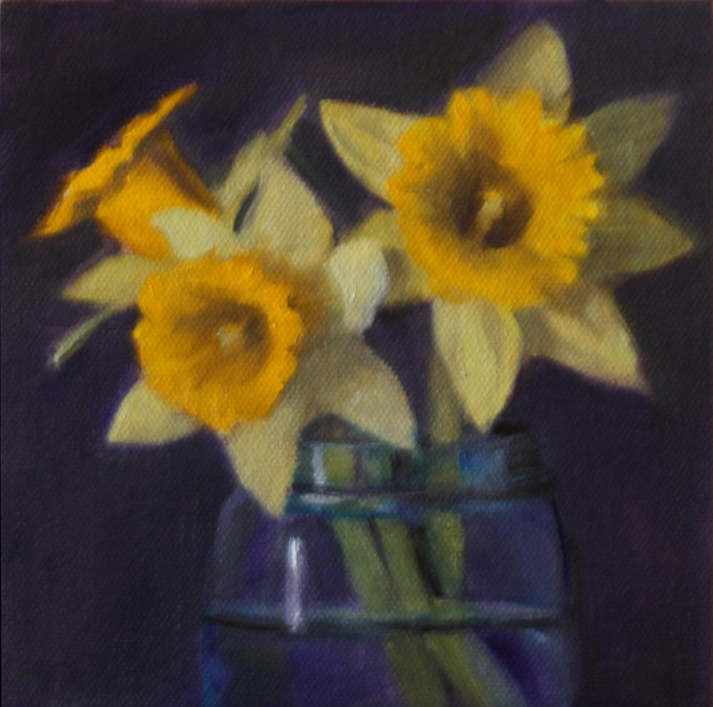 """Spring in a Jar"" original fine art by Pamela Poll"