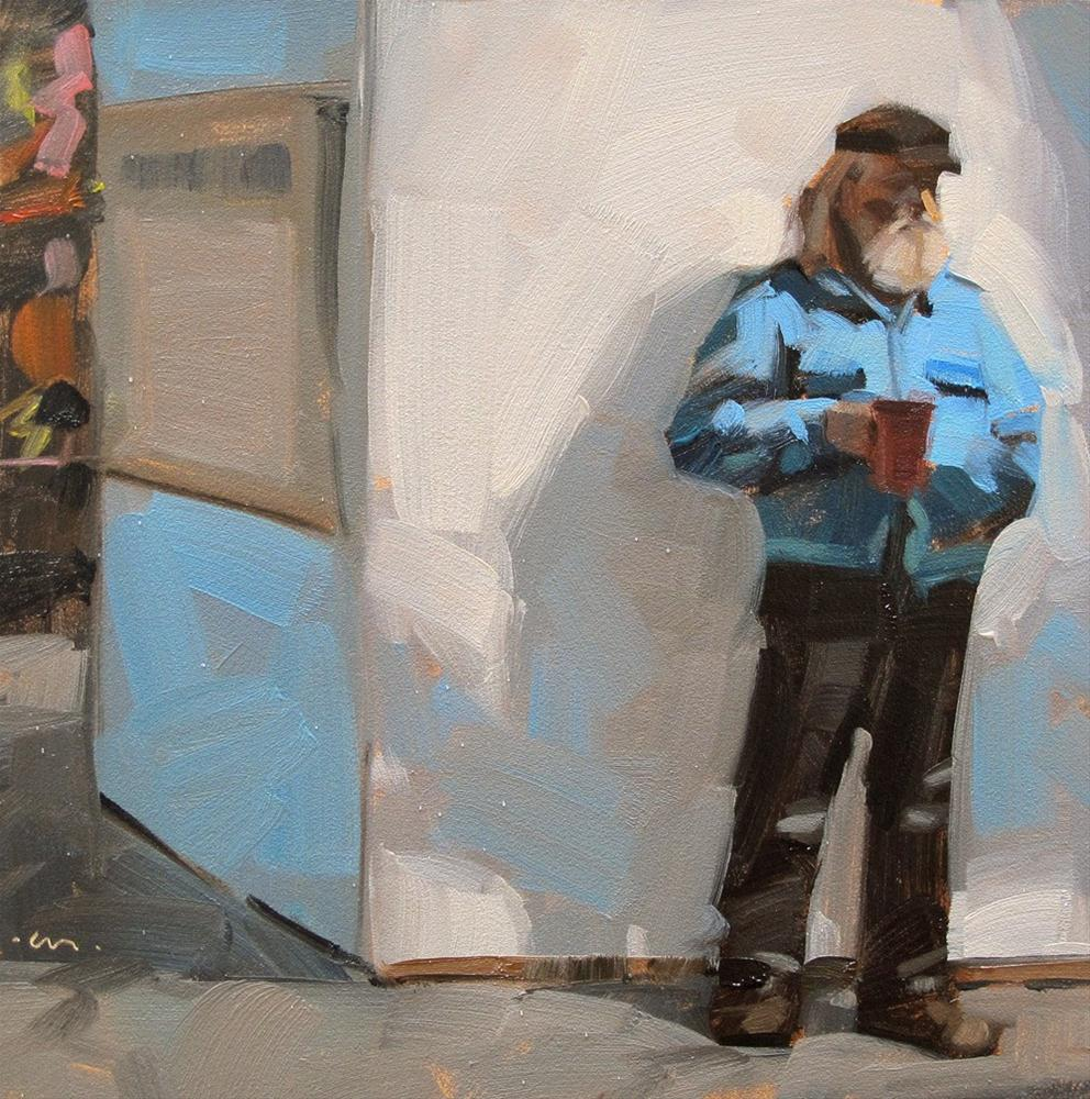 """Market Coffee Break"" original fine art by Carol Marine"