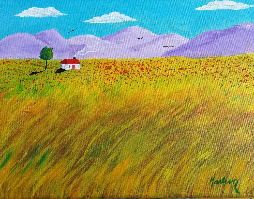 """A Long Way Home"" original fine art by Karleen Kareem"
