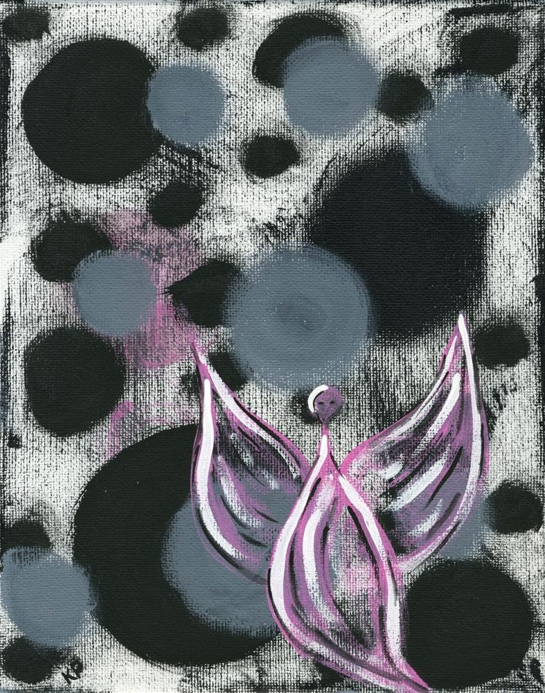 """Pink Angel"" original fine art by Kali Parsons"