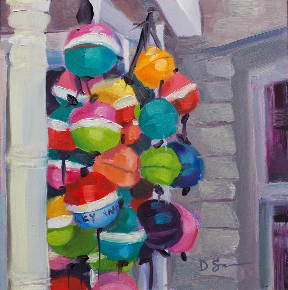 """Key West Buoys"" original fine art by Deborah Savo"