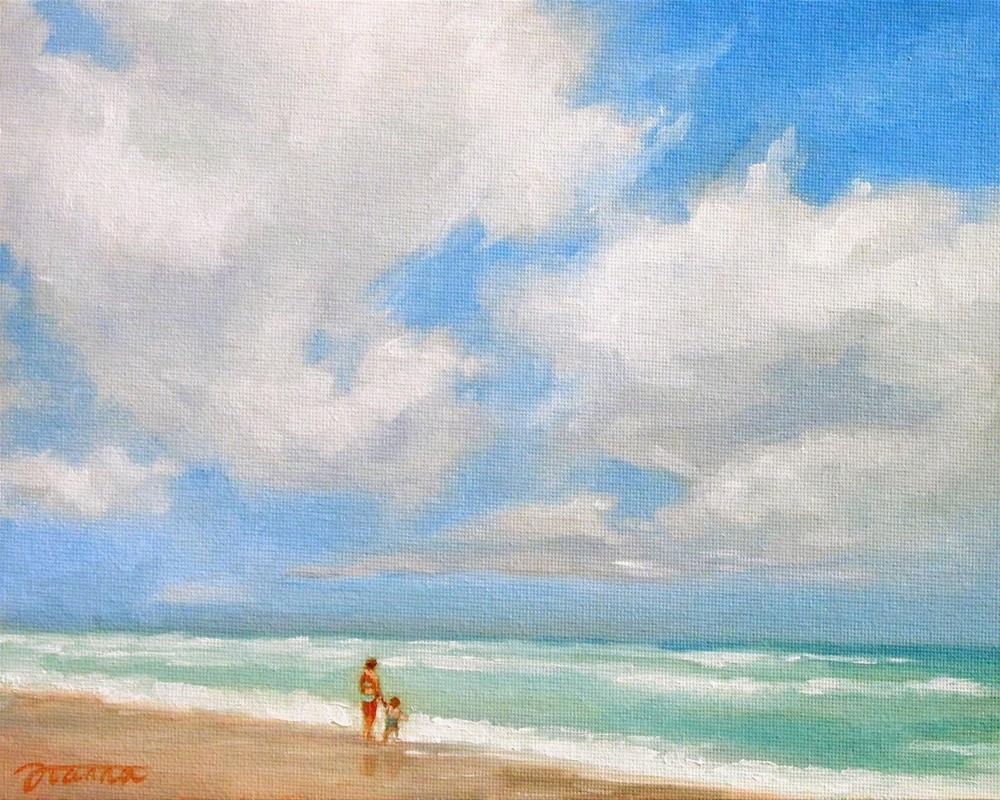 """Breezy Day At Beach"" original fine art by Joanna Bingham"