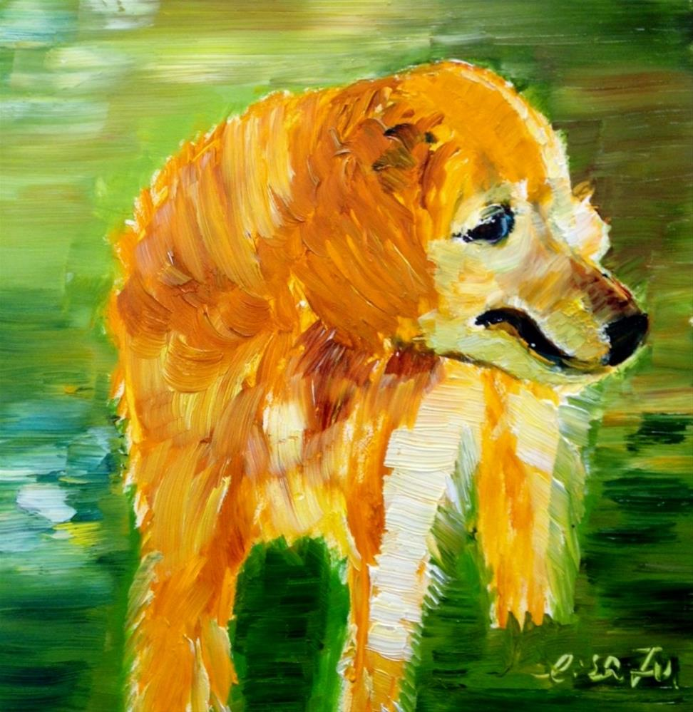 """Milo"" original fine art by Lisa Fu"