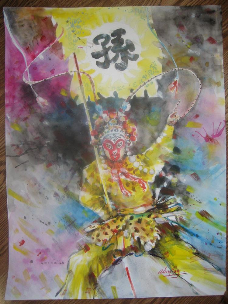 """Monkey king"" original fine art by Wenqing Xu"