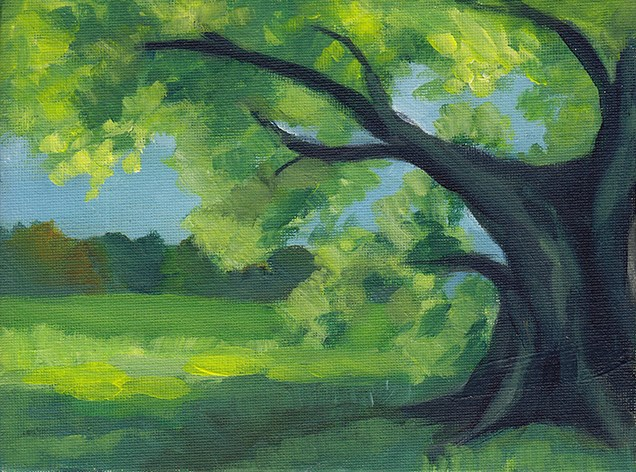 """Hatfield Tree"" original fine art by J M Needham"