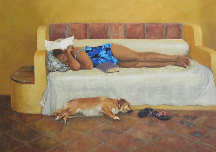 """""""JUDY"""" original fine art by Diane Mannion"""