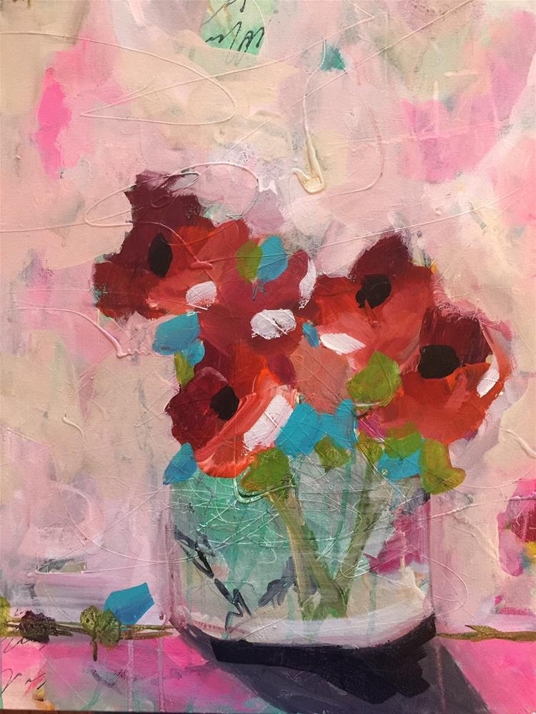 """388 Getty Flowers"" original fine art by Jenny Doh"