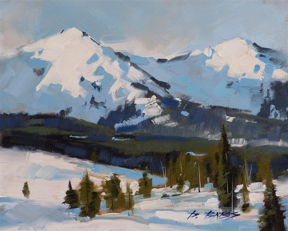 """Peak One Summit County"" original fine art by David Bates"