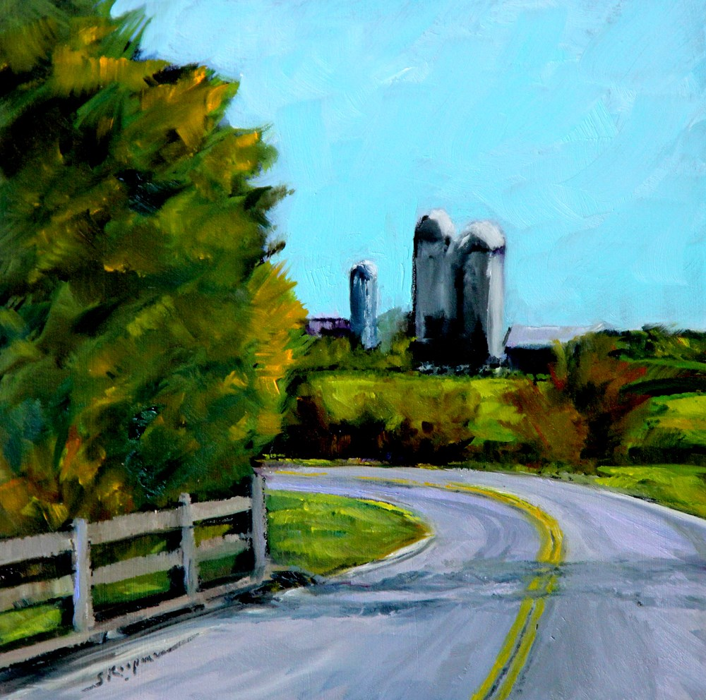 """Distant Silos"" original fine art by Shelley Koopmann"