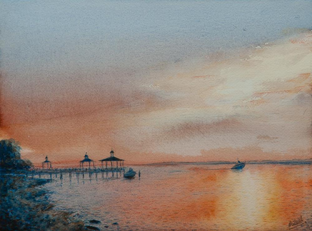 """Southport Morning"" original fine art by Tesh Parekh"