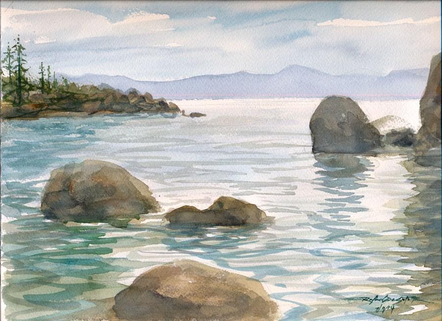 """Northeast Lake Tahoe"" original fine art by Rafael DeSoto Jr."