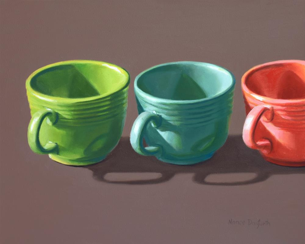 """Fiesta Cups in a Row"" original fine art by Nance Danforth"