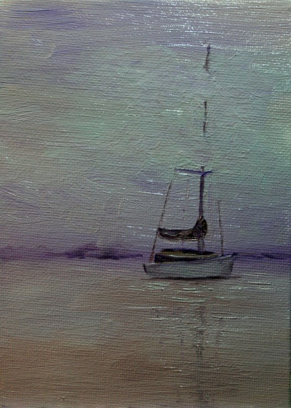 """Fog Rolling In"" original fine art by Jean Nelson"