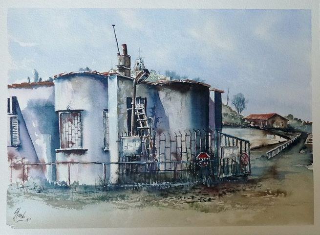"""The Elegant Gatehouse"" original fine art by Martin Stephenson"