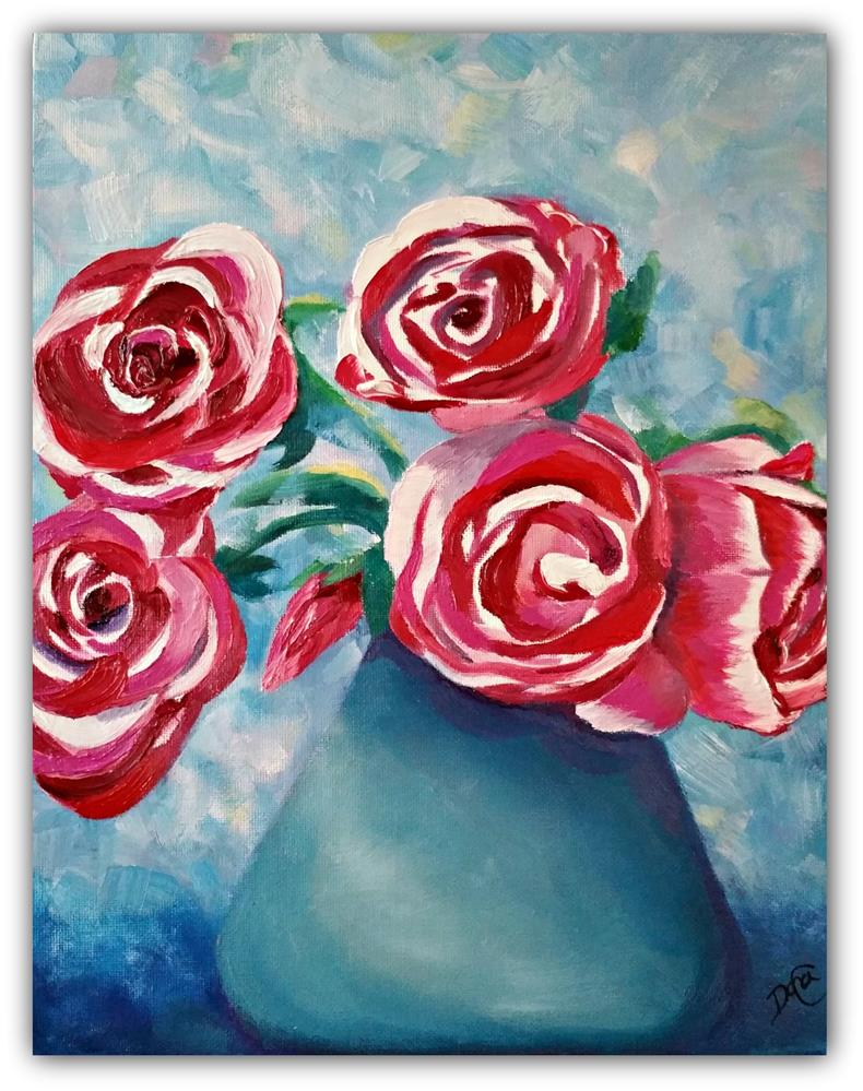 """Roses are Red"" original fine art by Dana C"